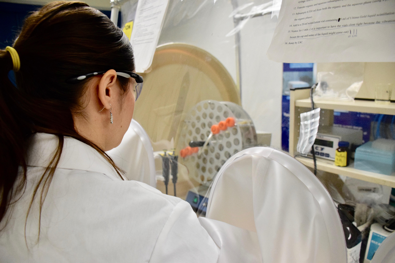 Silvi working in lab